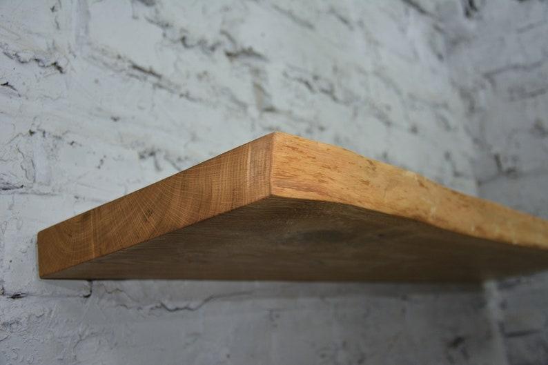 Floating Shelves Floating Wooden Shelf Rustic Shelf LIVE EDGE