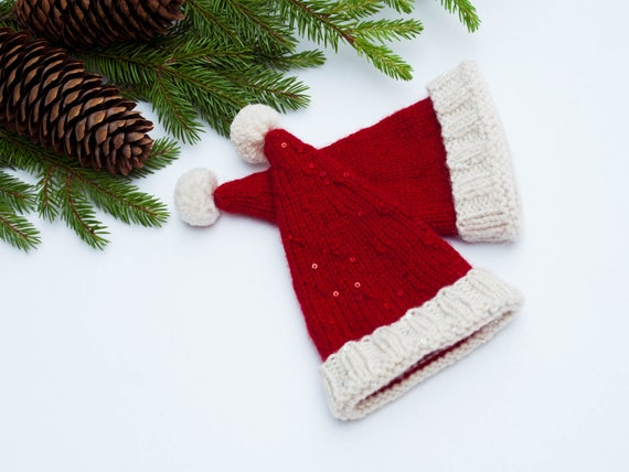 Christmas Tree Topper Knit Santa Hat Santa Claus Hat Tree Toppers Home Living