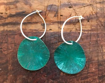 wave patina earrings