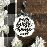 First Home Ornament, New Homeowner Christmas Ornament, Acrylic Christmas Ornament, Housewarming Christmas Ornament