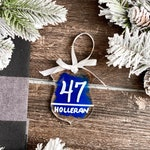 Police Officer Ornament, Police Officer Gift, Personalized Police Officer Ornament, Thin Blue Line Ornament, Badge Number Gift