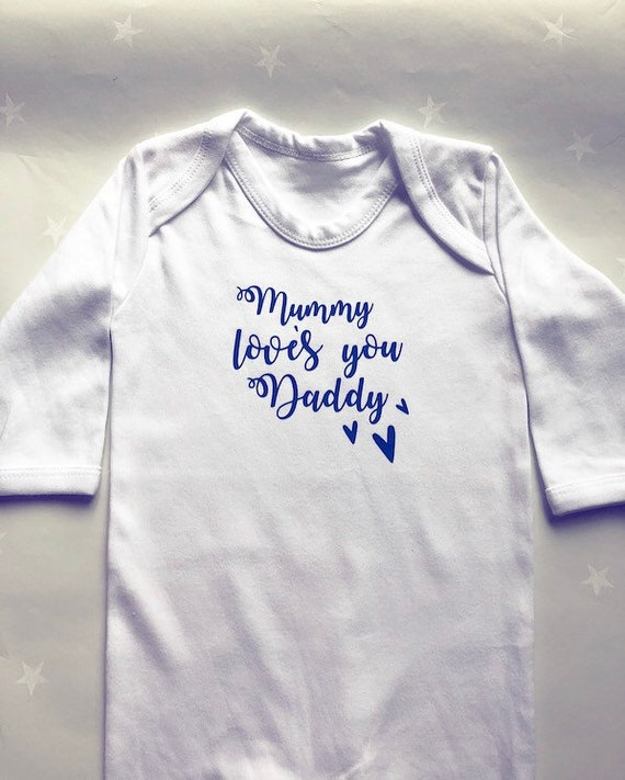 Mummy /& Daddy/'s Wedding Day Embroidered Baby Romper Babygrow Gift Personalised
