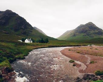 Scottish Highlands Print: Little House at Glen Coe