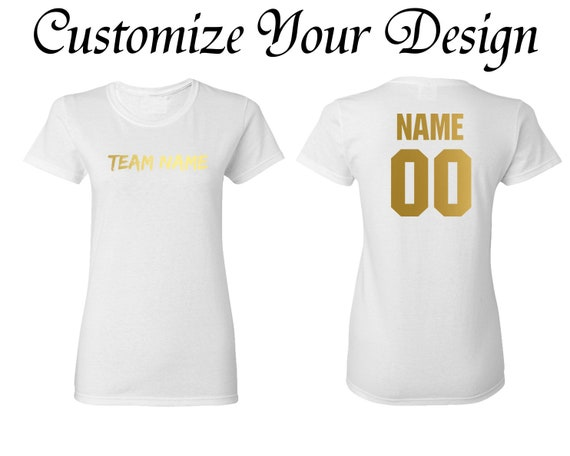 283fe29c538 Your Name   Number Women s T-shirt Sport Team Womens T