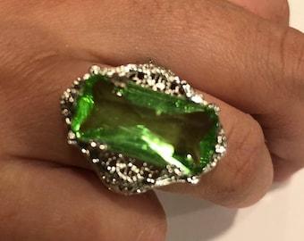 Green Tourmaline in Sterling Silver