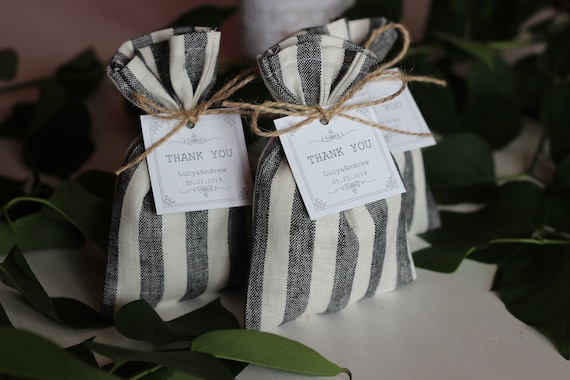 Bomboniere Matrimonio Low Cost Online.Small Wedding Bags With Thank You Card Rustic Bomboniere Etsy