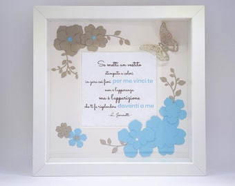 Dedicated frame decorated in cardboard