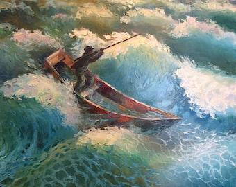 "Fedir Panchuk original oil painting on canvas ""Anniversary"""