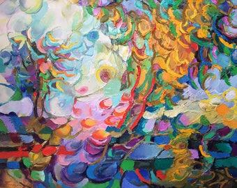 "Fedir Panchuk original oil painting on canvas ""November"""