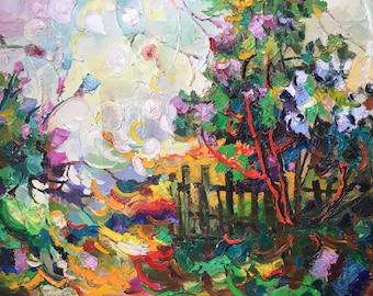 "Fedir Panchuk original oil painting on canvas ""May"""
