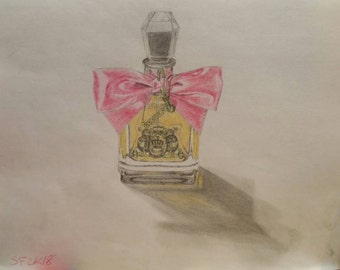 Couture Perfume Bottle-- Colored Pencil Drawing
