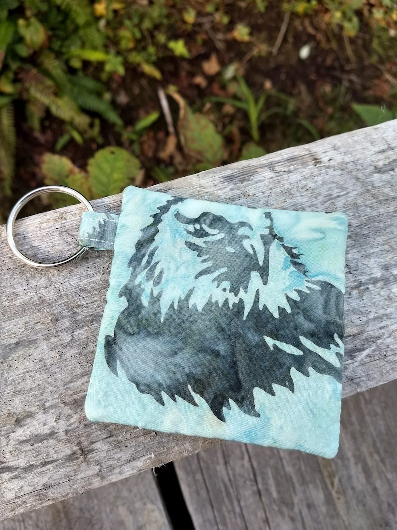 eagle pouch blue coin purse personalized gift,hand accessory keychain card holder Eagle zippered pouch Alaskan themed pouch blue pouch