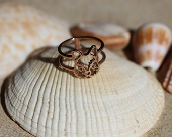 Cat Ring - Rose Gold Plated