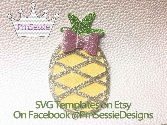 digital svg dxf pdf pineapple hair bow template etsy