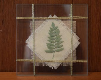 Completed Cross Stitch: Pressed Leaf