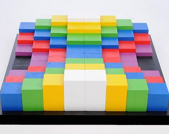3DCUBEGAMES, slot game, spatial thinking, game play, play board, wooden game, 3d game, Dice game, blocks, shape and color,