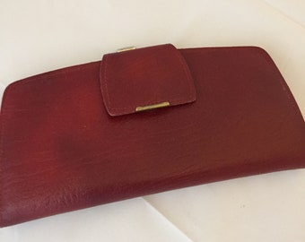 Red leather vintage purse 1950s