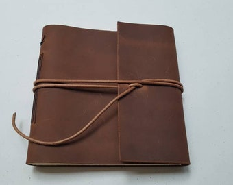 Leather journal, leather sketchbook, leather book, blank book,