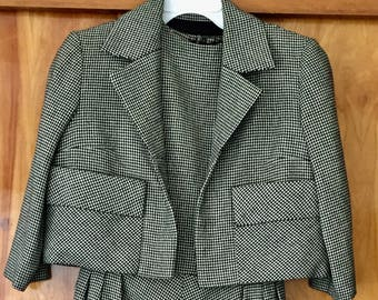 VINTAGE 1950s-60s Woman's Wool Dress AND Jacket