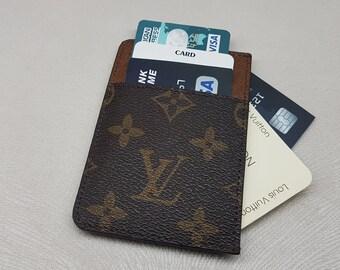 Mens card holder etsy lv cardholder slim card holder slim pocket wallet handmade lvfashion minimalist super slim wallet front pocket wallet business card colourmoves