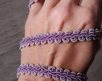 P44 plaited purple lilac purple and white 10 mm