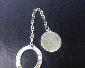 Sterling silver good luck horseshoe and fob