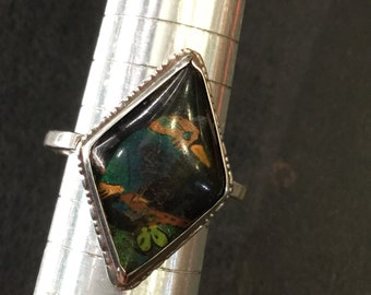 Silver butterfly wing ring kingfisher