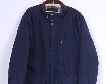 James Pringle Mens XL Jacket Navy Chore Bomber Zippered Padded Casual Top vmwzIF7