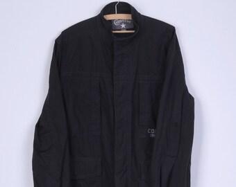 Converse Mens XL Jacket Black Cotton Zip Up Casual Lightweight Top