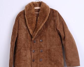 Pellux Mens 52 XL Coat Double Breasted Camel Boho