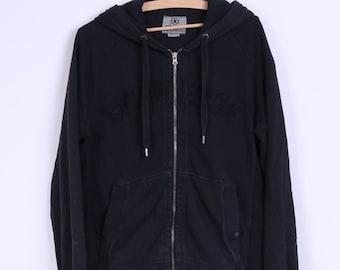 Converse Mens S Sweatshirt Black Cotton Zip Up Hoody