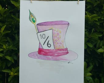 Mad hatter - watercolour painting