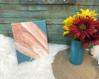 SALE... Sand Bar* 8x10 Acrylic Pour Painting