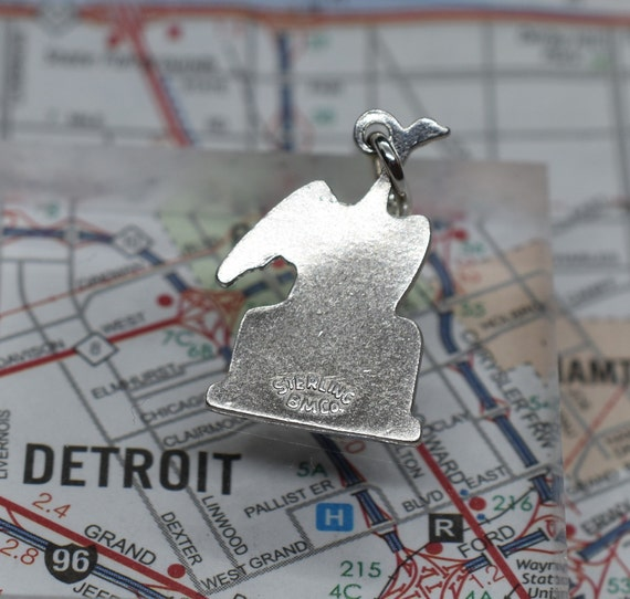 Sterling Silver Map of Ontario Canada Charm