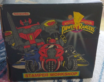 Vintage Mighty Morphin Power Rangers STAMP WORKSHOP 1993 45 MMPR Activity Set Rare 90s