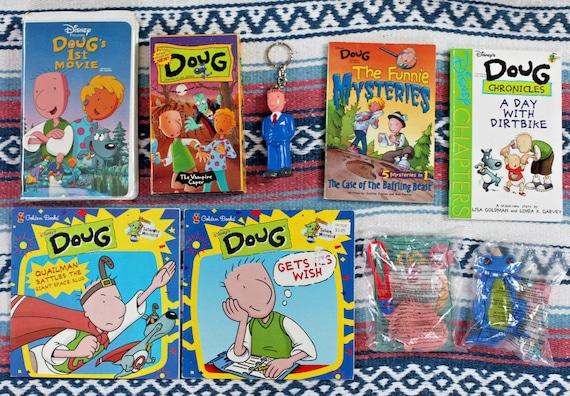 Doug Christmas Story Vhs.Vintage 90s Disney S Doug Mixed Lot Vhs Tapes Books Toys Etc