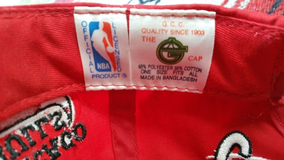 7e3df717e9a 90s Chicago Bulls Snapback Hat Cap NBA Basketball Michael Jordan Spellout  Script Grunge