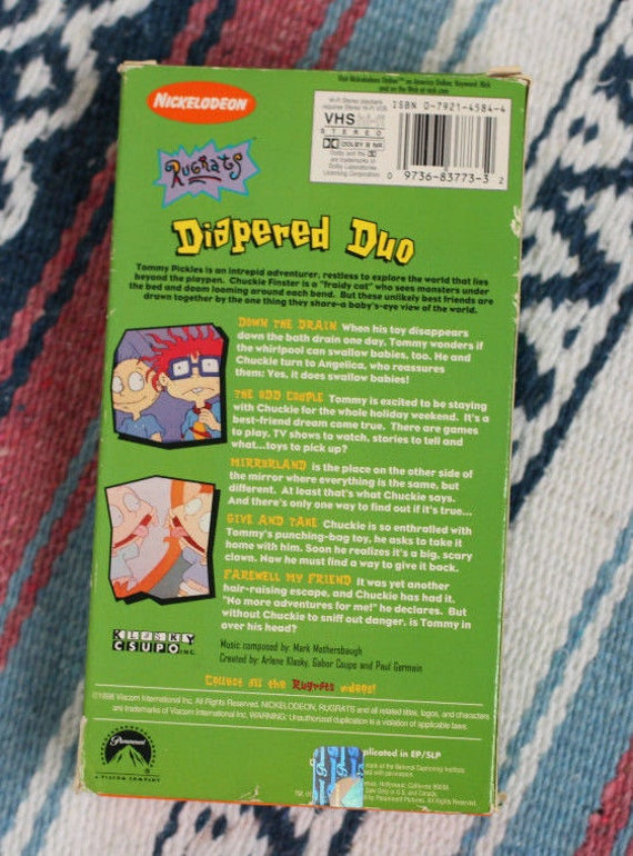 Vintage 90s Nickelodeon RUGRATS Mixed Lot! VHS Tape, Tommy Pickles Toy,  Watch, Stickers, etc