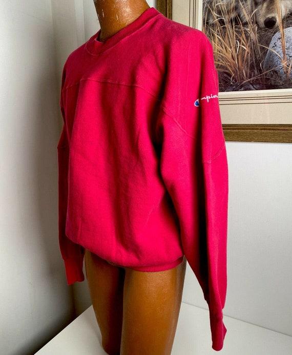 Vintage 90s CHAMPION Men's Size XL Red Crewneck Sw