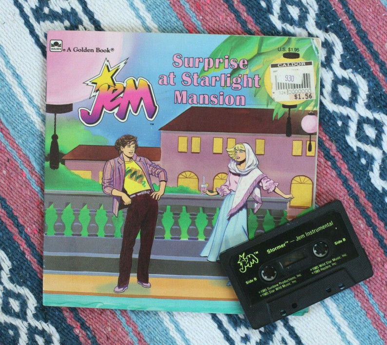 Vintage 1986 Jem and the Holograms Book * Surprise at Starlight Mansion *