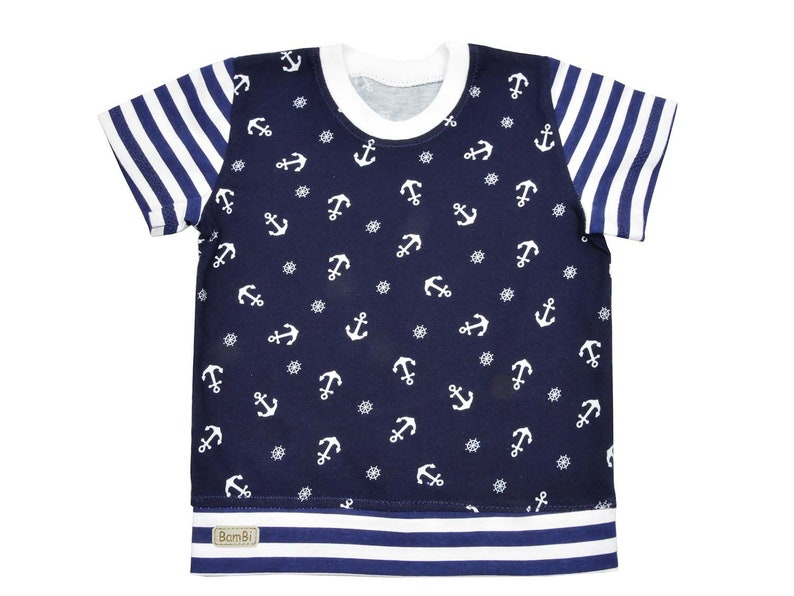 girl baby clothes,anchors print t-shirt shirt for baby girl for toddler boy 6months-8years ANCHORS cotton t-shirt organic cotton jersey