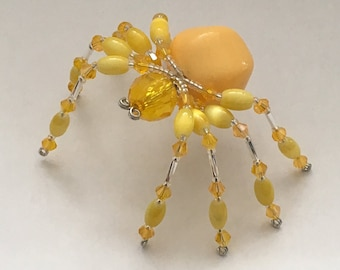 Beaded Spider - Yellow