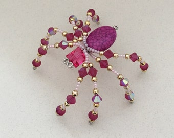 Beaded Spider - Fuschia