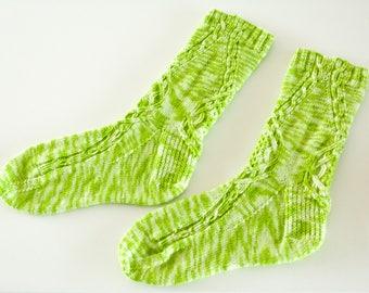 Hand gearbeitete Merino Sock - betroffenen