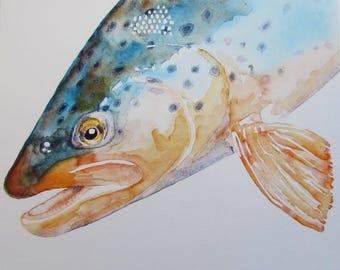 Fish Print Trout 01