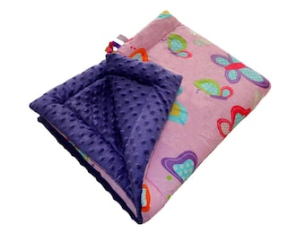 Baby Quilt Blanket 75x100 - MILLER Butterfly