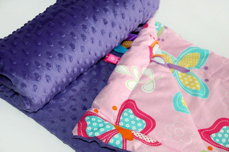 Baby Quilt Blanket 75x100 MILLER Butterfly