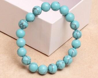 Turquoise Bracelet, Stretch Bracelet
