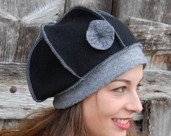 Pumpkin boiled wool hat
