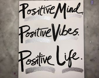 Positive Vibes Canvas